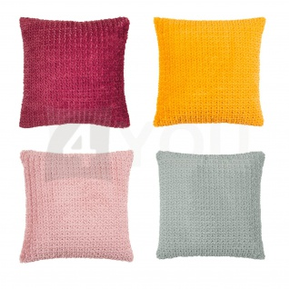 pad Kissenbezug DITA 45 x 45 cm in gewebter Fell-Optik 100% Polyester modern