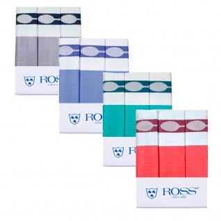 Ross 3-er Pack Baumwoll-Geschirrtuch Besteck-3-Set Unifond in vier Farben