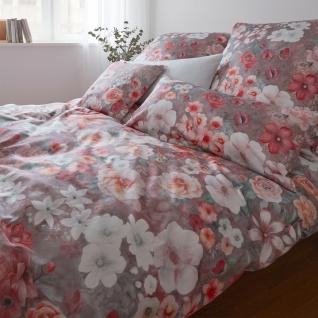 elegante Mako-Satin Bettwäsche Marvelous 2283-1 pink flambe Blumenmuster