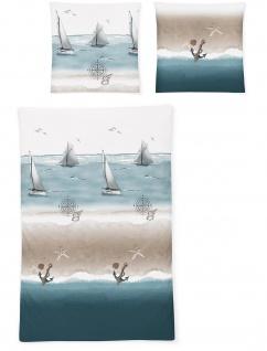Irisette Soft-Seersucker Bettwäsche Set 8327-20 maritim 100% Baumwolle
