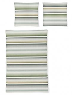 Irisette Biber Bettwäsche Davos 8016-30 grün Farbverlauf 100 % Baumwolle