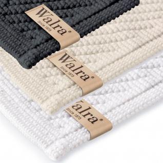 Walra Badematte Soft-Cotton 60 x 100 cm einfarbig 100% Baumwolle in drei Farben