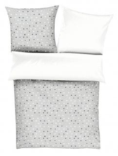 s.Oliver Renforce Kinderbettwäsche Sterne, 4349-800 silber weiß