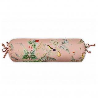 PIP Studio Nackenrolle Kissen Zierkissen Floris pink 22 x 70 cm Blumenmotiv