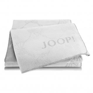 JOOP! Cornflowers Double Wohndecke Silber-Rauch 150 cm x 200 cm Baumwollmischung