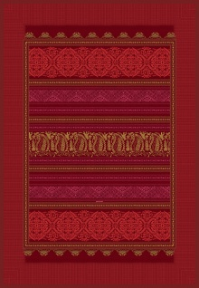 Bassetti Plaid Wohndecke Urbino R1 Rot 135 x 190 cm Ornamente gesteppt
