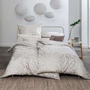 Estella Mako-Satin Bettwäsche Samuel 7371-820 silber aus 100% Baumwolle