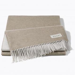 JOOP! Wolle-Kaschmir Plaid Sensual Doubleface Palisade-Kreide 130 x 180 cm Fransen