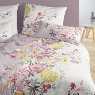 elegante Seiden-Satin Bettwäsche Kimono mauve Blumenmuster exklusiv - Vorschau 3