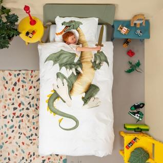 SNURK Kinder-Bettwäsche DRAGON - Drache 135 x 200 cm Digitaldruck Bio Cotton - Vorschau 3