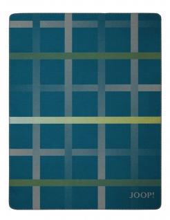 JOOP! Wohndecke Square Petrol-Graphit 150 cm x 200 cm Baumwollmischung
