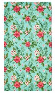 done.® Hamam- / Strandtuch PINK FLOWERS 90 x 180 cm eingenähte Tasche mit RV