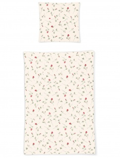 Irisette Bettwäsche Calypso 8736-60 Seersucker Rosen Allovermuster 100% Baumwolle