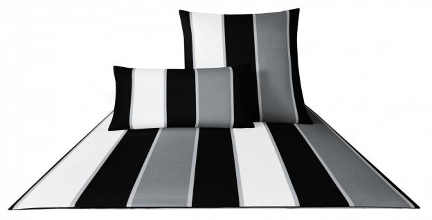 JOOP! Bettwäsche Lines 4055-0 schwarz / weiß 100% Baumwolle Blockstreifen