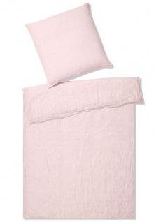 elegante Halbleinen Bettwäsche Breeze rose uni pflegeleicht