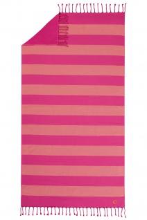 Cawö Hamamtuch Code Hamam 5503 pink-23 mit Fransen 90x180 cm leicht