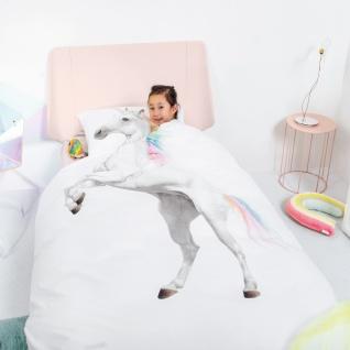 SNURK Kinder-Bettwäsche Unicorn - Einhorn 135 x 200 cm Digitaldruck Bio Cotton - Vorschau 5