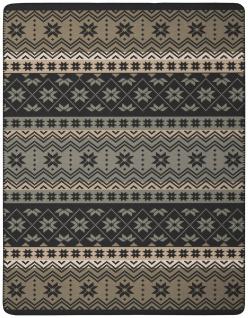 Biederlack Wolldecke Kuscheldecke Wohndecke 150 x 200 cm NS brown grey