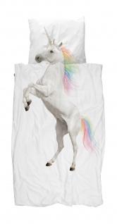 SNURK Kinder-Bettwäsche Unicorn - Einhorn 135 x 200 cm Digitaldruck Bio Cotton - Vorschau 1