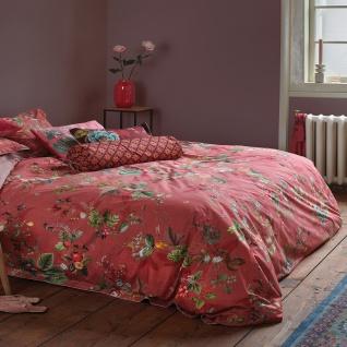 PiP Studio Perkal Bettwäsche Fall in Leaf Pink aus 100% Baumwolle Blumenmotiv