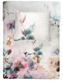 WALRA Bettwäsche Baumwolle Renforcé Flower Dust weiß