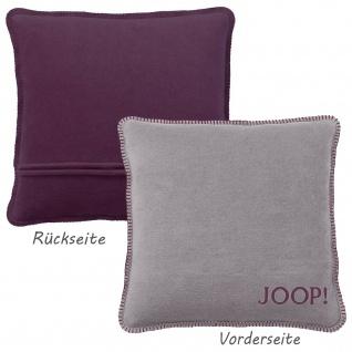 JOOP! Kissen Uni-Doubleface Kissenbezug Graphit-Bordeaux 50 x 50 cm Wendeoptik