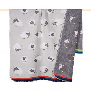 PAD Kuscheldecke SHEEP multi 75 x 100 cm Baumwollmischung für Kinder