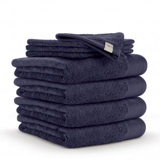 WARLA Frottierserie Soft Cotton navy-blau 100% Baumwolle uni klassisch