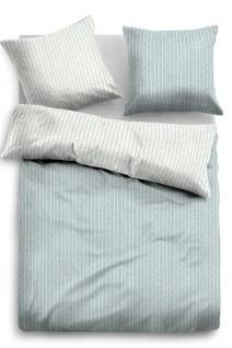 Tom Tailor Melange Flanell Bettwäsche Streifen 849791-805 grau 100% Baumwolle