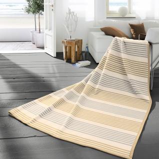 Biederlack Cotton-Pure Stripe 150 x 200 cm beige, natur Blockstreifen Baumwolle