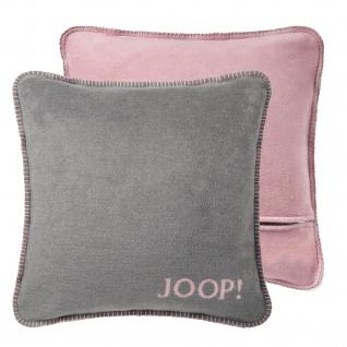 JOOP! Kissen Uni-Doubleface Kissenbezug Graphit-Rosé 50 x 50 cm Wendeoptik