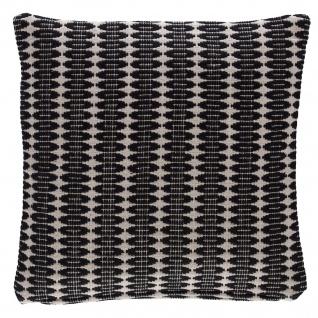 Scantex Kissenhülle Lucca black 40 x 40 cm aus 100% Baumwolle grob gewebt