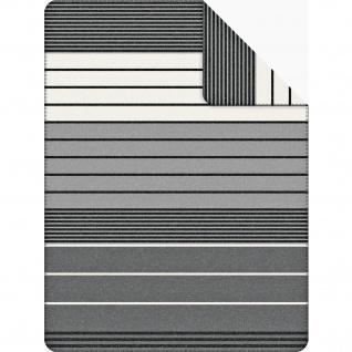 Bugatti Jacquard Decke 1399-800 grau gestreift 150 x 200 cm aus Baumwollmischgewebe