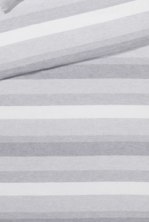 elegante Halbleinen Bettwäsche Delight 7056-9 hellgrau gestreift - Vorschau 3