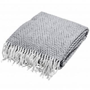 done.® Wohndecke Mitch Grey 150 x 200 cm aus Baumwollmischung