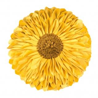 Pad runde Kissenhülle SUNFLOWER rund 45 cm yellow in Blumenform 100% Polyester
