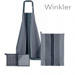 Winkler Küchenserie Bengal aus 100% Baumwolle blau - weiss