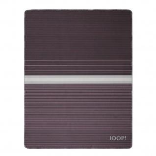JOOP! Horizon Wohndecke Bordeaux-Graphit 150 cm x 200 cm Baumwollmischung