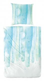 Hahn Primera Perkal Bettwäsche133014-053 blau in Farbverlauf 100% Baumwolle