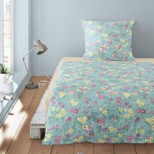 Irisette Seersucker Bettwäsche Calypso 8264-20 bunt 100% Baumwolle floral