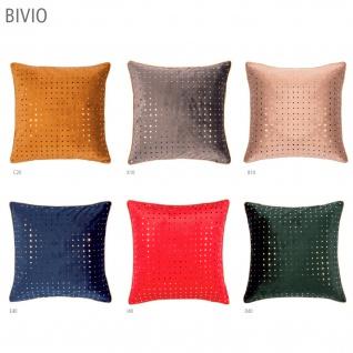 pad Kissenbezug BIVIO Samt mit gold Punkten 40 x 40 cm mit RV in 6 Farben