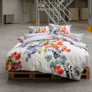 Estella Bettwäsche Bunch 4722 multicolor Blumen 100% Baumwolle Wendeoptik - Vorschau 2