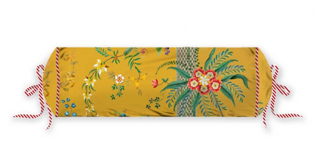 PIP Studio Nackenrolle Petites Fleurs Yellow 22 x 70 cm Blumenmuster