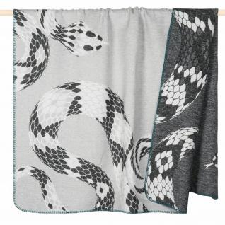PAD Wohndecke Snake grey 150 x 200 cm aus einem Baumwollmischgewebe