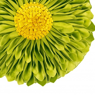 Pad runde Kissenhülle SUNFLOWER Ø 45 cm green in Blumenform 100% Polyester