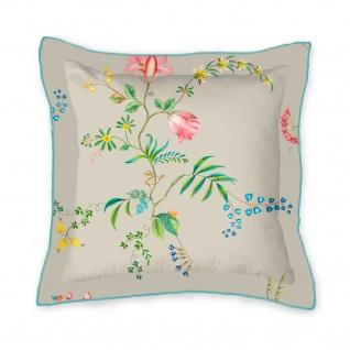 PIP Studio Zierkissen Fleur Grandeur Khaki 45 x 45 cm Blumenmuster