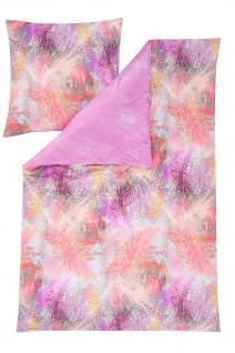 Estella Jersey- Bettwäsche NEO 6578-410 pink 100 % Baumwolle modern Wendeoptik