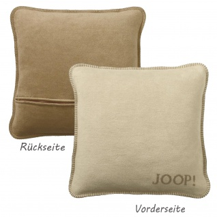 JOOP! Kissen Uni-Doubleface Kissenbezug Macchiato-Cashew 50 x 50 cm Wendeoptik