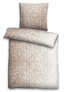 Biberna Linon Bettwäsche Mosaik 44754-542 macchiato