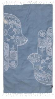Seahorse Hamamtuch HAMSA 100x180 cm blau 100% Baumwolle